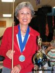 Sachiyo With Trophy & Cue