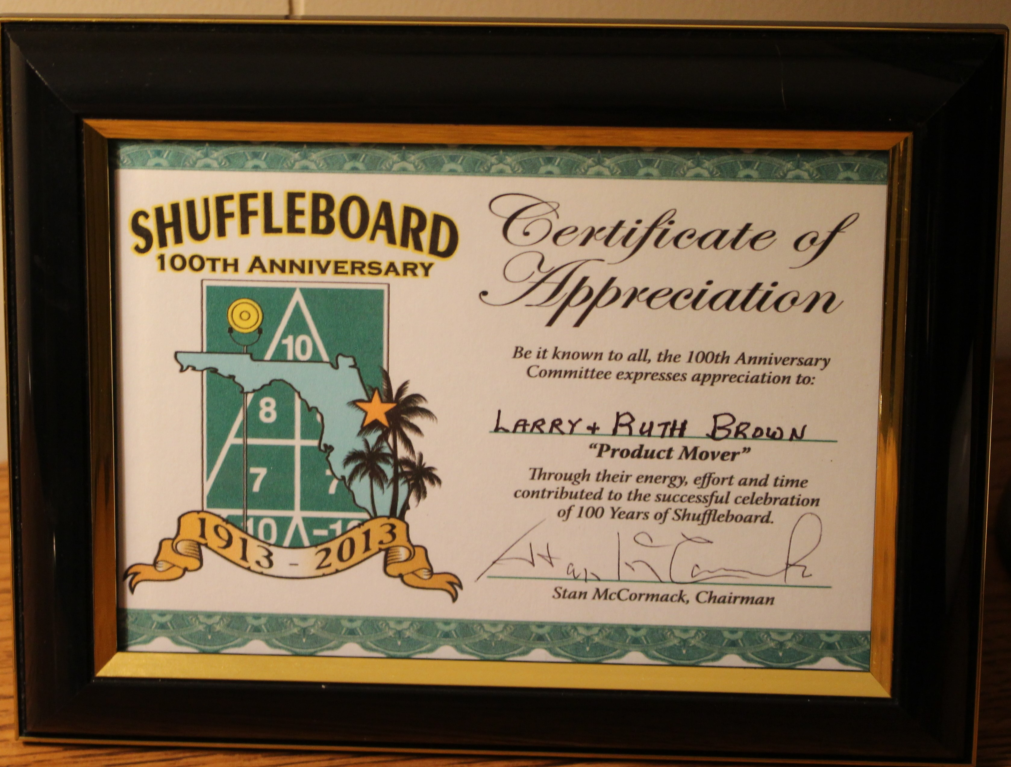 Certificate Recognition 100th Birthday Template