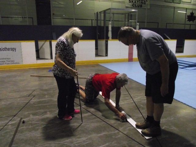 Marlene, Jim and Larry Prepare Courts in INGERSOLL, ON