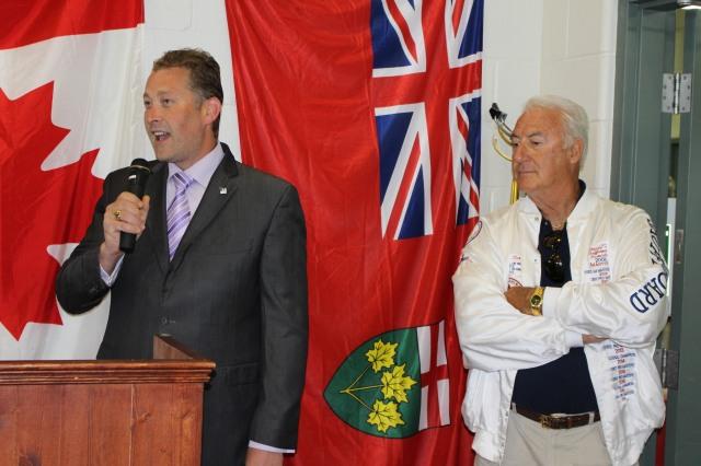 Mayor Trevor Birtch Opens CNSA NATIONLA while President Henry Strong  Looks On 2016