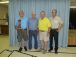 "A Event: ""A"" event from left to right – 1st: Brian Hillier, SK, 2nd: Gordon Potter, AB, 3rd:  Bob Lockwood, SK, 4th: Arnold Empey, AB."