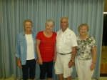 """B"" event – 1st: Sheila Stockman, AB,  2nd: Marlene Cowling, SK,  3rd:  Doug Cowling, SK,  4th:  Adele Stokowski, AB."