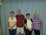 """C"" event – 1st:  Shirley Tucker, AB,  2nd:  Dennis Stockman, AB,  3rd:  Pat Kristian, SK, 4th:  Diane Stafford, SK."