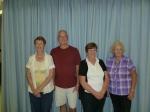 """C"" event – 1st:  Shirley Tucker, AB,  2nd:  Dennis Stockman, AB,  3rd:  Pat Kristian, SK, 4th:  Diane Stafford, SK."