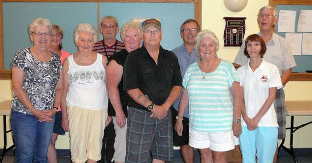 SUBMITTED The prize winners from the Coldwater Shuffleboard Club's annual Fun Day and barbecue are pictured.