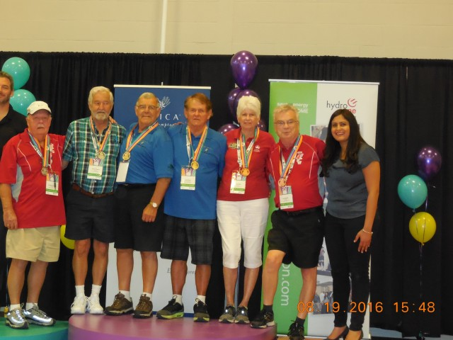 Don Breau and Paul Belliveau of New Brunswick  Win Gold in the 70 + Age Group!!