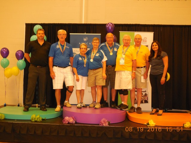 Gilles Demers and Louisette Martel of Quebec, earn  a Silver Medal in the CANADA 55+ Games!!