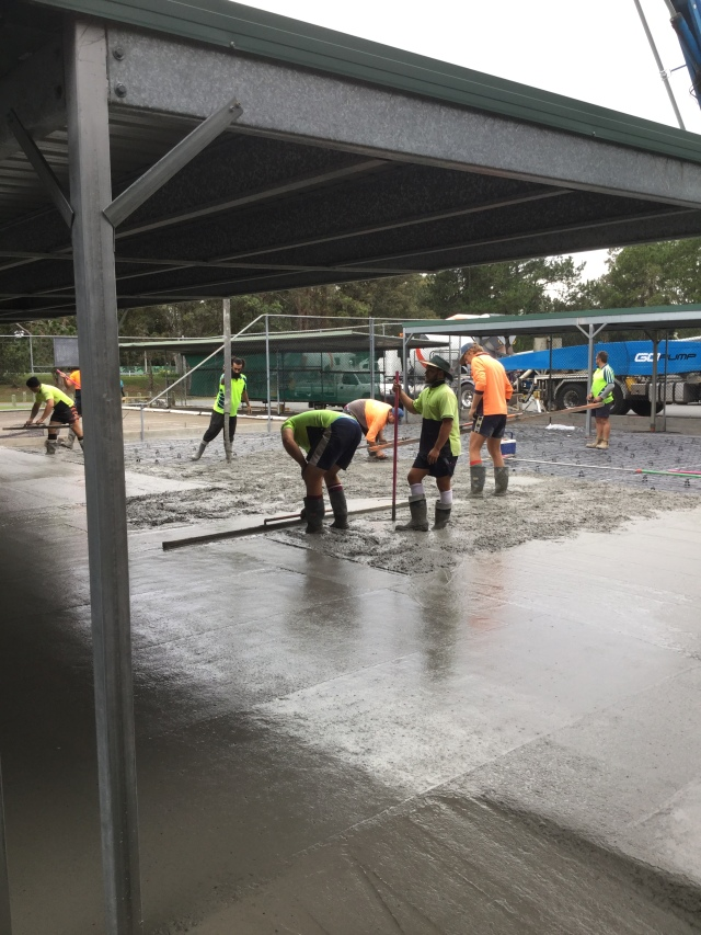 CONCRETE POUR AT ELANORA.