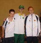 Torben Hussmann, Bernar Borges, and Marius Runge. 2007 in Midland, ON