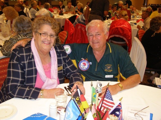 Malcolm and Louise Crowder at the 27th ISA Banquet in Coolangatta, AU.