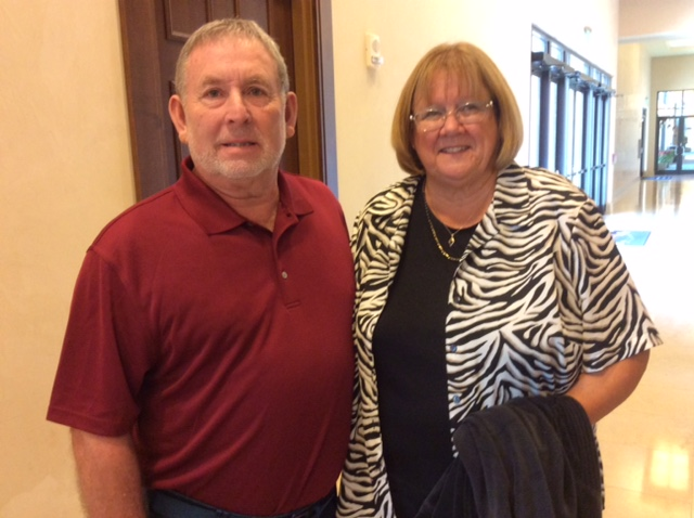 Checking in at the Embassy Suites in FL; we give you Eric and Barbara Brown