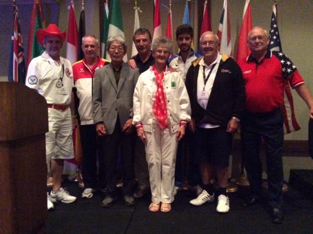 Jim Corbeil Canada, Dieter Hussmann Germany, Kazunari Hatanaka Japan, Peter Davis United Kingdom, Myrna Bilton, Bernar Borges Brazil, Ian Reiher Australia, Rob Robinson USA.