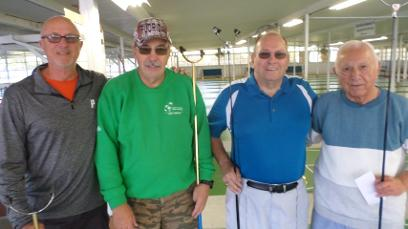 WCD District Tournament AR08 Open Doubles held Dec. 1-2, 2016 at CSC. Results, MAIN EVENT:      1st Place on right.  Don Winkleblech - Bob GuerrinI      2nd Place on left.  Tom Feeley - Andre Huot