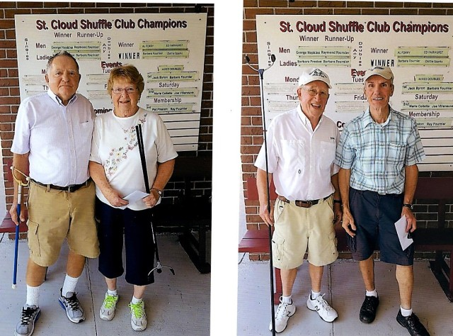 1st Pro Main; Jean-guy Allaire and Don Rood. 2nd Main; Ruth Tate and Paul Prescott.