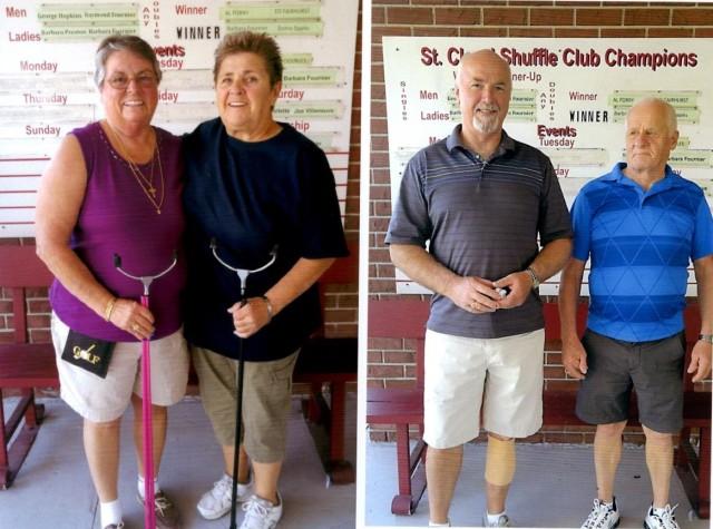 CDA: 1st Main; Nancy Foley and Pauline Murphy.  2nd Main; Bob Pembroke and Joe Villeneuve.