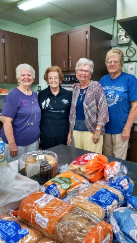 Kitchen Help: left to right are Bev Hann, Patti Boswell, Shirley Breckridge, & Janice Patterson.