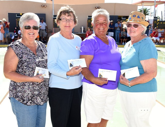 Women's Championship Division, L to R: Melanie Kersey, 1st Place; Deb Wacker, 2nd Place; Dee Zillyett, 3rd Place; Julie Comingore, 4th Place