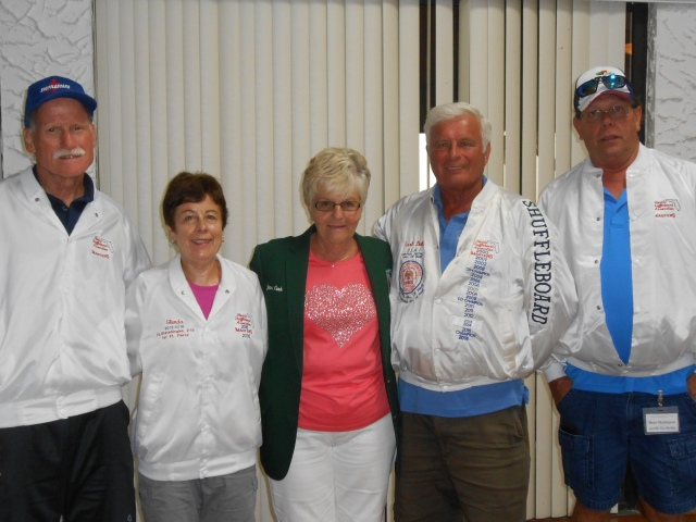 From L to R: Mike Seyfer, Glenda Brake, Joan Cook, Earl Ball and Dean Myklejord.