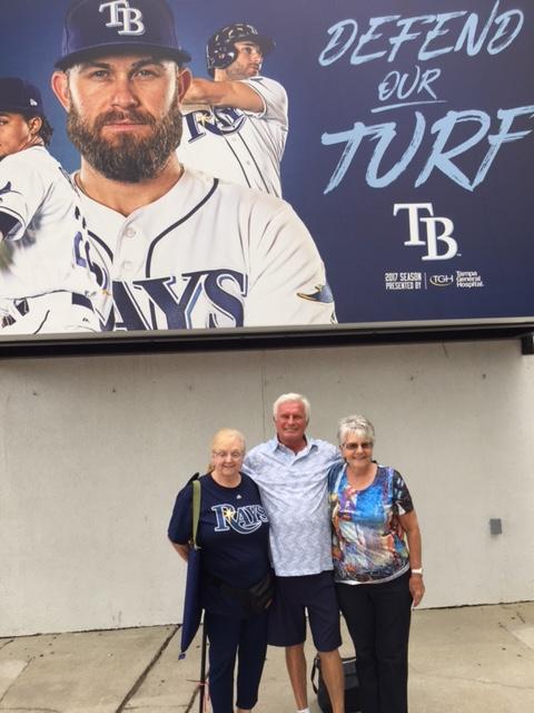 Diane, Joan and Earl Arrive